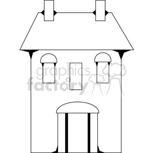 Salt Box House 03 clipart. Commercial use image # 387577