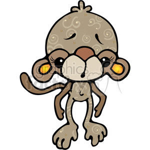 02 Monkey COL clipart. Commercial use image # 387597