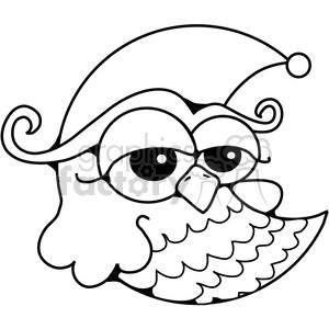 Owl Moon BW clipart. Royalty-free image # 387616