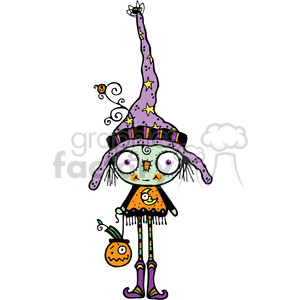 Bug Eyed Witch Colored clipart. Commercial use image # 387626