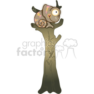 Chameleon in Tree 03 clipart. Royalty-free image # 387705
