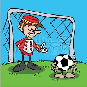 cartoon soccer goalie clipart. Royalty-free image # 387802