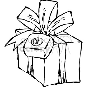 black and white cartoon gift clipart. Royalty-free image # 387832