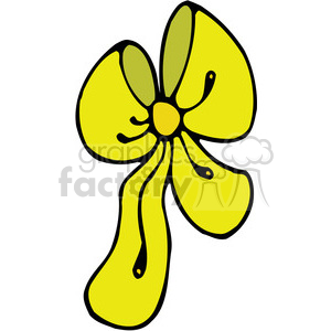 yellow Bow 01 clipart clipart. Royalty-free image # 387968