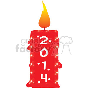 2014 candle clipart