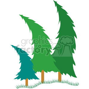 Bending Pine Trees clipart