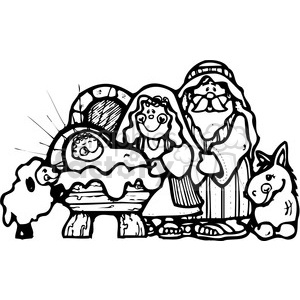 Nativity-Characters clipart. Commercial use image # 388028