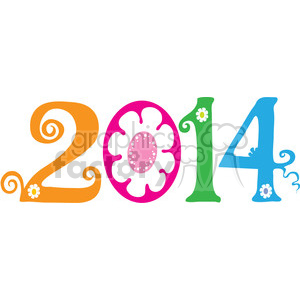 2014 flower clipart clipart. Royalty-free image # 388061