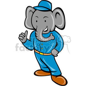 elephant in builder outfit clipart. Royalty-free image # 388251