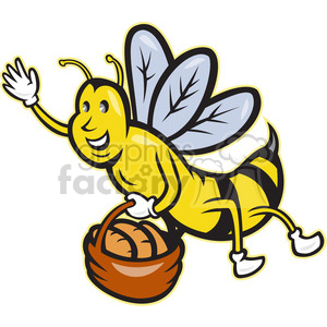 bee basket bread clipart. Royalty-free image # 388291