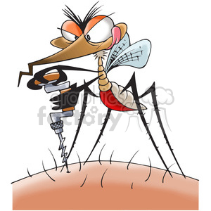 mosquito drilling the skin clipart. Royalty-free image # 388311