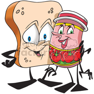 bread and jam hugging clipart. Royalty-free image # 388321