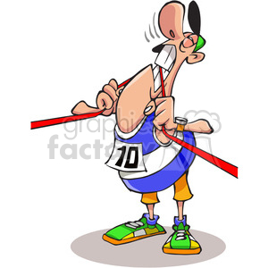 runner biting finish line clipart. Royalty-free image # 388399