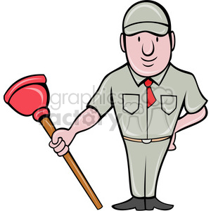 plunger man clipart. Commercial use image # 388449