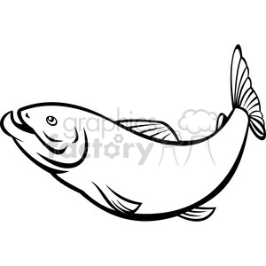 black and white herring fish clipart. Royalty-free image # 388469