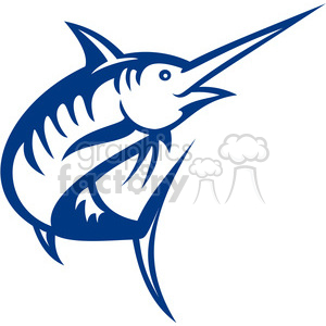 swordfish vector outline clipart. Royalty-free image # 388479