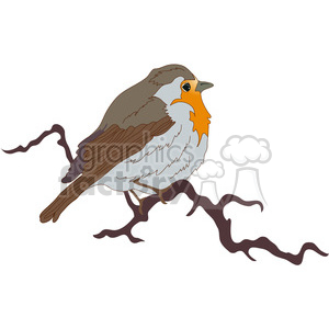 Fat Little Bird 01 clipart. Royalty-free image # 388519