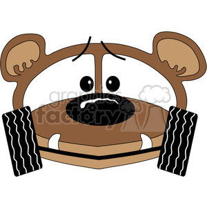 Bear Buggy clipart. Royalty-free image # 388529