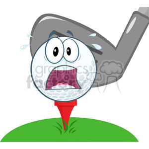 5706 Royalty Free Clip Art Panic Golf Ball Over Tee Going To Be Hit By Golf Club clipart. Royalty-free image # 388781