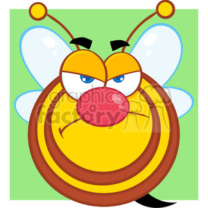 5585 Royalty Free Clip Art Angry Honey Bee Cartoon Mascot Character clipart. Royalty-free image # 388830