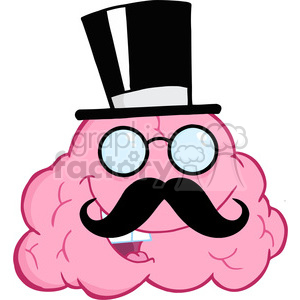 5861 Royalty Free Clip Art Happy Brain Gentleman clipart. Commercial use image # 388951