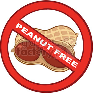 6593 Royalty Free Clip Art Stop Peanuts Sign With Text clipart. Commercial use image # 389486