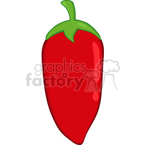 6765 Royalty Free Clip Art Red Chili Pepper clipart. Commercial use image # 389516