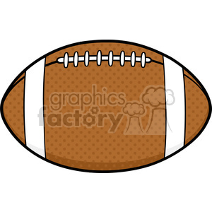 6556 Royalty Free Clip Art American Football Ball Cartoon Illustration clipart. Commercial use image # 389586