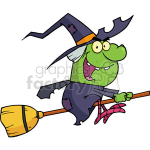 6626 Royalty Free Clip Art Witch Ride A Broomstick clipart. Royalty-free image # 389738