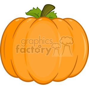6603 Royalty Free Clip Art Pumpkin Cartoon Illustration clipart. Commercial use image # 389748