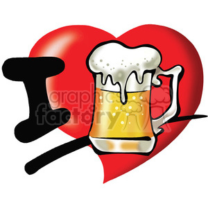 I love beer clipart. Commercial use image # 389776
