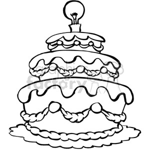 black and white cake clipart. Commercial use image # 389786