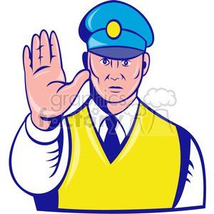 officerwithhandout clipart. Commercial use image # 389941