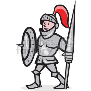 knight shield lance stand iso clipart. Royalty-free image # 389961
