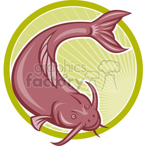 catfish2 PURP clipart. Royalty-free image # 389971