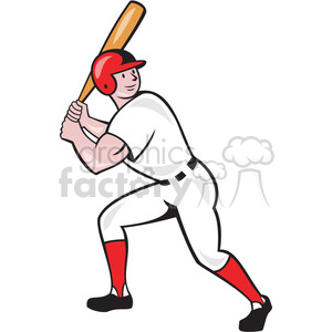 baseball player batting lookup clipart. Commercial use image # 389981