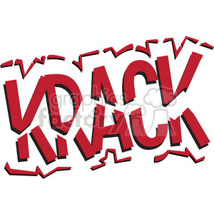 krack onomatopoeia clip art vector images clipart. Royalty-free image # 390047