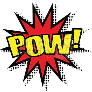 pow burst onomatopoeia clip art vector images clipart. Commercial use image # 390057
