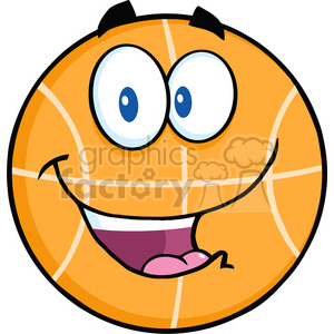 Royalty Free RF Clipart Illustration Happy Basketball Cartoon Character clipart. Commercial use image # 390117