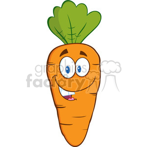 Royalty Free RF Clipart Illustration Happy Carrot Cartoon Character clipart. Commercial use image # 390227