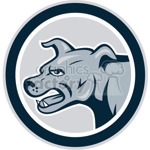 dog mongrel attacking side 001 CIRC clipart. Royalty-free image # 390355