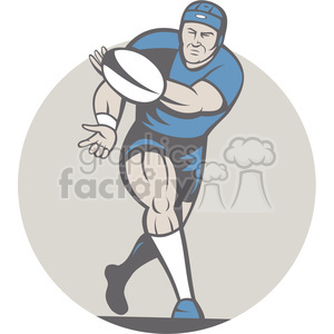 rugby player passing ball front clipart. Commercial use image # 390367