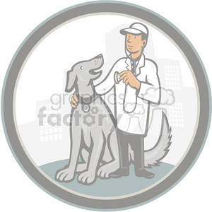 veterinarian dog clipart. Royalty-free image # 390379