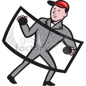 automotive glass installer clipart. Royalty-free image # 390389