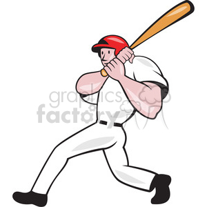 baseball player batting follow thru clipart. Royalty-free image # 390399