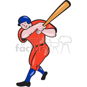 baseball batter batting front clipart. Royalty-free image # 390431