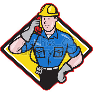 telephone repairman calling phone DIA clipart. Commercial use image # 390473