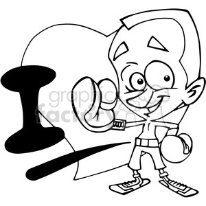 I Love boxing outline clipart. Royalty-free image # 390695