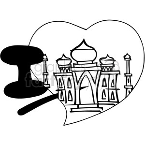 I love Taj Mahal outline clipart. Royalty-free image # 390761