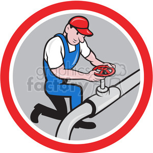 plumber working on pipe on knee